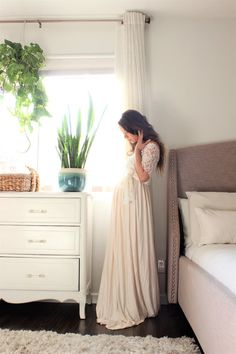 bohemian wedding dress Maternity gown long infinity maternity