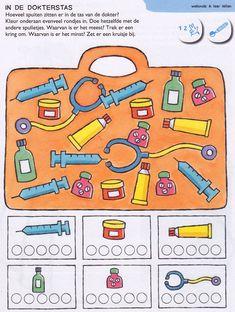 Jeu :Cherche et trouve & compte le nombre d'instruments médicaux