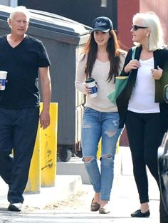 Lana Del Rey and her parents in West Hollywood yesterday #LDR