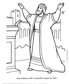 Free King Solomon Bible page to color