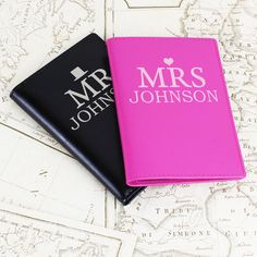 Personalised Mr and Mrs Passport Holders | http://www.vivabop.co.uk/