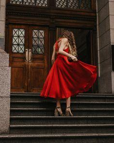 """Bianca-Amor Steenkamp on Instagram: """"I dont wear red often, but when I do @sunesnyman_design 🍷"""""""