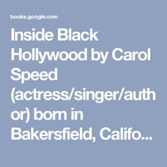 Inside Black Hollywood by Carol Speed (actress/singer/author) born in Bakersfield, California, USA on March 14, 1945  Sun in ♓ Fargh Awwal P.4. * Moon in ♓ Pisces * Mercury in ♓ Fargh Althani * Venus in ♈ Al Nath P.3. * Mars in ♑ Sa'd al Su'ud P.2. * Jupiter ℞ in ♌ Al Sarfa P.1. * Saturn in ♊ Al Zirr P.2. * True North Node in ♊ Al Dhira P.1. * True South Node in ♐ Al Na'am P.3. (Chitra Paksha's sidereal delineations)