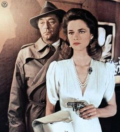 """Robert Mitchum (August 6, 1917 - July 1, 1997) as Philip Marlowe and Charlotte Rampling (February 5, 1946 - ) as Helen Grayle in """"Farewell, My Lovely"""", 1975. #actor"""