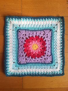 "Ravelry: Project Gallery for Autumn Clusters 12"" Square pattern by Aurora Suominen"