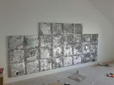 Best Ta Da Feature Wall Silver Crushed Velvet Wall Tiles 640 x 480