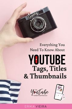 Everything you need to know about YouTube Tags, Titles, Thumbnails. The YouTube Power Hour Podcast with Erika Vieira. Episode 72 #ErikaVieira #YouTubePowerHousePodcast  #YouTube Youtube Tags, You Youtube, Marketing Software, Content Marketing, Marketing Ideas, Marketing Tools, Media Marketing, Youtube Kanal, Pinterest Marketing