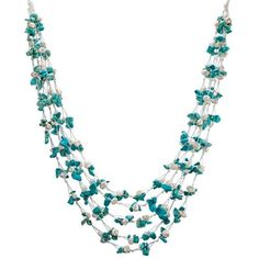 HinsonGayle Kayla Handwoven Five-Strand Cultured Pearl and Turquoise Necklace (Artisan Collection) HinsonGayle Fine Pearl Jewelry,http://www.amazon.com/dp/B005RFH3VC/ref=cm_sw_r_pi_dp_mJNJrbD1F4EC4788