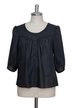 schwarze casual Bluse aus feiner Batist Baumwolle - Sveekery Berlin Ethical Fashion Brands, Luxury Branding, Berlin, Organic Cotton, Ruffle Blouse, Silk, Wool, Elegant, Casual