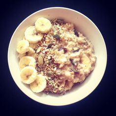Banana, almond butter, raisin and mixed seed porridge this morning. Yum yum! #breakkie #breakfast #breakfastideas #vegan #veganbreakfast #veganinspiration #veganinspo #plantbased #plantbaseddiet #oats #porridge #food #healthydiet #healthyeating #eatingforhealth #eatingwell #goodfood #greatfood #healthyfood #tastyfood #tasty #yum #yummy #yummyfood  Yummery - best recipes. Follow Us! #tastyfood