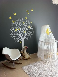 Stokke crib, just love this great Nursery colour scheme. Love it!!!!!
