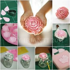 How to Make Fondant Peonies | How to Make Fondant Peony - My Simple Way