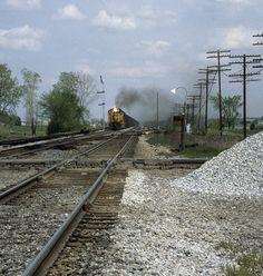 B&O westbound train approaching Hamler, Ohio