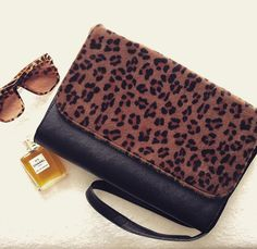 #Animal print clutch bag and sunglasses ready for spring
