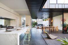kitchen overlooking courtyard