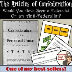 This resource shares a summary of the weaknesses of the Articles of Confederation as well as the strengths for your students to understand America's first attempt at a formal set of rules by connecting it to their own lives. This has been a tried-and-true hit in my classroom for many years! Google Drive & Paper Version included.