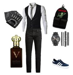 """Untitled #4"" by marius-romanescu ❤ liked on Polyvore featuring MasterCraft Union, adidas, Off-White and Clive Christian"