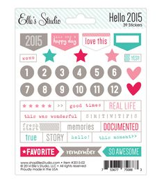 Hello 2015 - Stickers by Elle's Studio