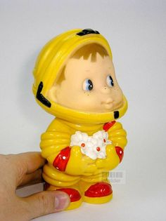 """7"""" Russian Cosmonaut Astronaut Gagarin SPACE rubber toy doll USSR Vintage 80's Doll Toys, Dolls, Rubber Duck, Astronaut, Puppets, Vintage Toys, Cosmos, Games, Retro"""