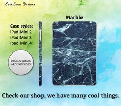 Marble Ipad Mini Case Ipad Case Ipad mini Case by EverLunaStore Marble Case, Ipad Mini 3, Ipad Case, Phone Cases, Unique Jewelry, Handmade Gifts, Etsy, Design, Kid Craft Gifts