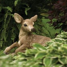 Fawn Rising On One Leg by Henri Studio : Apollo Statuary: Statues, pedestals, planters, fountains, and much more! Deer Statues, Garden Statues, Apollo, Pedestal, Planters, Legs, Studio, Amazing, Animals