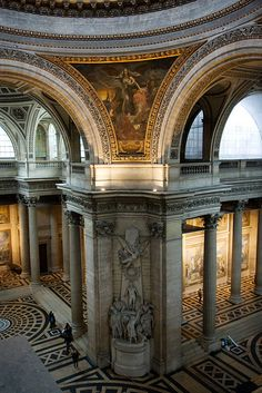 - in the Panthéon Building in Paris, France Ancient Architecture, Beautiful Architecture, Beautiful Buildings, Art And Architecture, Places Around The World, Around The Worlds, Pantheon Paris, Beautiful Paris, Ville France
