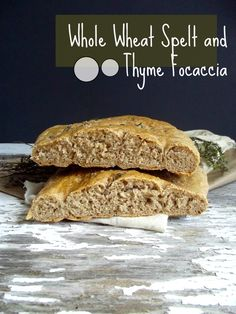 Homemade bread! Whole wheat spelt and thyme focaccia you can make at home to share with guests or have all to yourself. Easy and delicious! #vegan #wholegrain