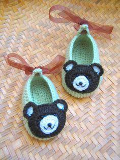 Crochet Pattern  Little Bear Crochet Baby Booties by MyMayaMade, $5.99