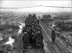 A train carrying British troops to Flanders 1914