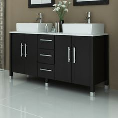 The Sirius Double Vessel Sink Modern Contemporary Bathroom Vanity with Stone Top provides a streamlined design for your modern bathroom furniture needs. Underneath its sleek style, you will find quality const Modern Vanity, Modern Bathroom, Double Vanity Bathroom, Vanity, Amazing Bathrooms, Glass Countertops, Contemporary Bathroom Remodel, Bathroom Furniture Modern, Contemporary Bathroom