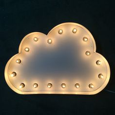 Cloud Marquee, light up cloud, cloud Cloud Lights, Wall Lights, Night Light, Light Up, Heart Wall Decor, E Room, Marquee Lights, Electrical Components, A Table