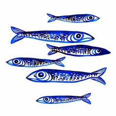 """There was a """"Sardines"""" festival in the neighborhood last week. #illustration #fish #sardines #ink"""