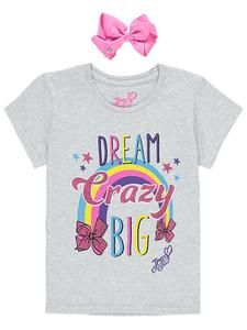 Girls JoJo Siwa Clothing Online T Shirt With Bow Novelty Characters