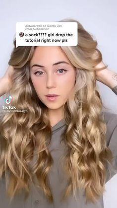 Curly Hair Styles Easy, Curly Hair Tips, Easy Hairstyles For Long Hair, Curled Hairstyles, Pretty Hairstyles, Short Hair Styles, Hair Upstyles, Aesthetic Hair, Hair Videos