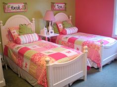 Colorful girls shared room