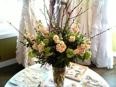 Flower Branches Centerpieces | Tall Arrangement with Branches