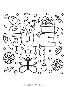 Printable summer coloring page. Free PDF download at http