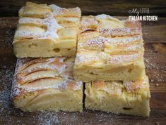 Simple apple slices cake - MADE IT - good - next time make it in a smaller cake pan Apple Cake Recipes, Baking Recipes, Cookie Recipes, Dessert Recipes, Desserts, Apple Cakes, Apple Tea Cake, Easy Apple Cake, Apple Tart Recipe Easy