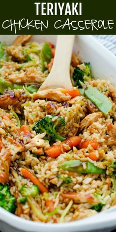 Cazuela de pollo teriyaki – Güveç yemekleri – Las recetas más prácticas y fáciles Best Chicken Recipes, Asian Recipes, Recipe Chicken, Chicken Teriyaki Recipe, Healthy Shredded Chicken Recipes, Ground Chicken Recipes, Ground Turkey Recipes, Chinese Food Recipes Chicken, Recipes With Rotisserie Chicken