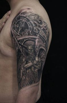 god chronos tattoo cronos god time