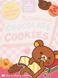 Rilakkuma bear Rilakkumarket chococlate cookies mini Note Pad San-X 3