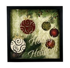 25 Days of Christmas: Day Happy Holidays shadow box from Direct. Diy Christmas Shadow Box, Christmas Frames, Christmas Gift Box, Christmas Signs, Christmas Art, Christmas Projects, Christmas Decorations, Christmas Ideas, Christmas Planters
