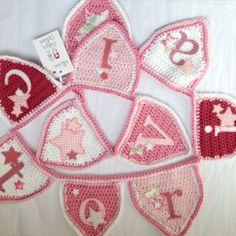 Crochet pink stars bunting - Ruby & Custard