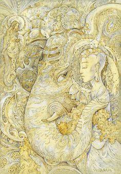 Inner Cosmos ॐ Spiritual Paintings, Spirited Art, Indian Gods, Visionary Art, Psychedelic Art, Gods And Goddesses, Archetypes, Ganesha, Beautiful Creatures