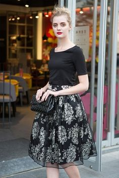 I absolutely love this #floralprintedskirt! everything about it is gorgeous - the color combo, the design of the skirt, and it's very suitable for this season. I could hardly wait to get one!