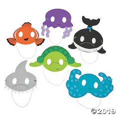 Ocean Animal Mask Craft Kit is part of Kids Crafts Animals Birthday Parties - Our Ocean Animal Mask Craft Kit for kids is a perfect party activity for an under the sea birthday party! Add it to your classroom supplies when your read Tween Party Games, Bridal Party Games, Party Activities, Sleepover Party, Animal Masks For Kids, Mask For Kids, Diy Party Crafts, Craft Party, Craft Kits For Kids