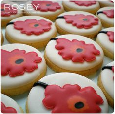 Unikko Wedding Favour Cookies 1 by rosey sugar, via Flickr
