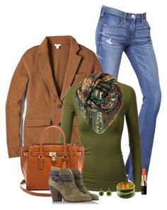 Untitled #2650 by nancymcd on Polyvore featuring polyvore, fashion, style, J.TOMSON, FOSSIL, Express, rag & bone, MICHAEL Michael Kors, Etro, Bobbi Brown Cosmetics and clothing