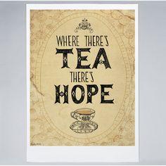 Americanflat Paula Mills ''Tea And Hope'' Framed Wall Art Painting Frames, Painting Prints, Wall Art Prints, Framed Prints, Tea Quotes, Qoutes, Life Quotes, Cuppa Tea, How To Make Tea