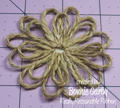 Hi everyone.  Bonnie from Really Reasonable Ribbon  here today with a tutorial for an easy Jute Loopy Flower embellishment.  It can by ...